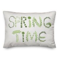 "Designs Direct ""Spring Time"" Oblong Throw Pillow in Green"