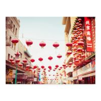 Trademark Fine Art Chinatown Afternoon 14-Inch x 19-Inch Multicolor Canvas Wall Art
