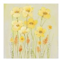Trademark Fine Art Soft Spring Floral II 18-Inch Square Canvas Wall Art