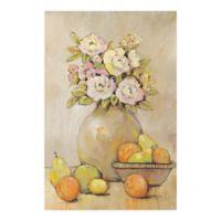 Trademark Fine Art Still Study Flower and Fruit II 24-Inch x 16-Inch Canvas Wall Art