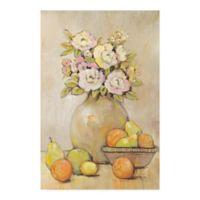 Trademark Fine Art Still Study Flower and Fruit II 19-Inch x 12-Inch Canvas Wall Art