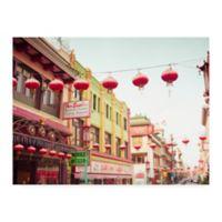 Trademark Fine Art Chinatown Afternoon 35-Inch x 47-Inch Canvas Wall Art