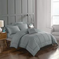 Joshuah 8-Piece Queen Comforter Set in Grey