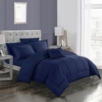 Joshuah 8-Piece Queen Comforter Set in Navy