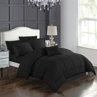 Joshuah 8-Piece King Comforter Set in Black