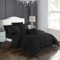 Joshuah 8-Piece Queen Comforter Set in Black