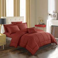 Joshuah 8-Piece King Comforter Set in Brick