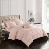 Joshuah 8-Piece Queen Comforter Set in Coral