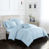 Joshuah 8-Piece King Comforter Set in Blue