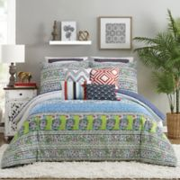 Jessica Simpson Valdivia Full/Queen Comforter Set in Blue