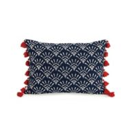 Jessica Simpson Valdivia Oblong Throw Pillow in Blue