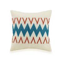 Jessica Simpson Caicos Square Throw Pillow in Turquoise