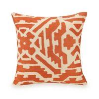 Jessica Simpson Caicos Square Throw Pillow in Coral