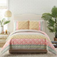 Jessica Simpson™ Bonita Full/Queen Quilt Set in Pink