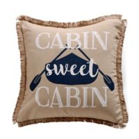 "Levtex Home Lake Life ""Sweet Cabin"" Throw Pillow"
