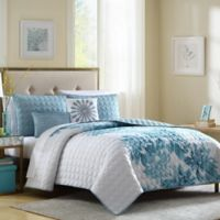 Brooklyn Full/Queen Quilt Set in Blue