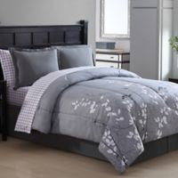 Ellison Bainbridge Reversible Queen Comforter Set in Grey