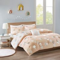 Mi Zone Emelia 3-Piece Reversible Twin Comforter Set in Pink/Silver