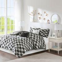 Intelligent Design Kelsie 5-Piece Reversible Full/Queen Comforter Set in Black/Grey