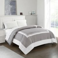 Finely 5-Piece Reversible Full Comforter Set in Grey