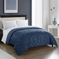 Harper 5-Piece Queen Comforter Set in Indigo
