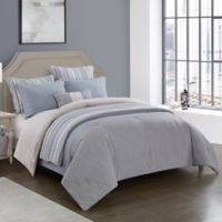 Kayden Reversible Full/Queen Comforter Set in Blue