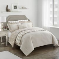Worthington Reversible Full/Queen Comforter Set in Taupe