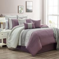 Hilden 10-Piece King Comforter Set in Purple