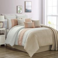 Hilden 10-Piece Queen Comforter Set in Blush