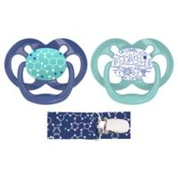 Dr. Brown's® Advantage 2-Pack Stage 2 Pacifiers with Clip in Blue