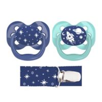 Dr. Brown's® Advantage 2-Pack Stage 1 Pacifiers with Clip in Blue