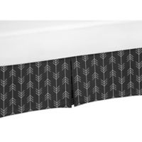 Sweet Jojo Designs Rustic Patch Arrow Crib Skirt in Black/White