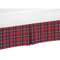 Sweet Jojo Designs Rustic Flannel Crib Skirt in Red