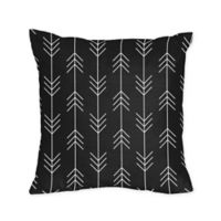 Sweet Jojo Designs® Rustic Patch Arrow Print Square Throw Pillows in Black/White (Set of 2)