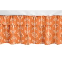 Sweet Jojo Designs Navy Arrow Crib Skirt in Orange/White