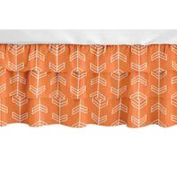 Sweet Jojo Designs Navy Arrow Crib Skirt in Orange/White