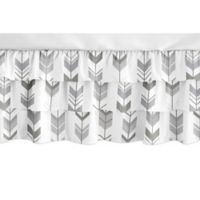 Sweet Jojo Designs Mod Arrow Crib Skirt in Dark Grey/Light Grey