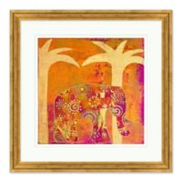 Gilded Elephant I Framed Print Wall Art