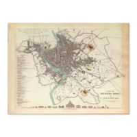 Vintage Rome Map 39.5-Inch x 29.5-Inch Framed Wall Art