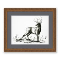Deer Sketch 25.25-Inch x 21.25-Inch Framed Wall Art