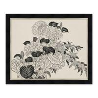 Black and White Flowers III Framed Print Wall Art