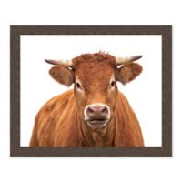 Cow Portrait 31.5-Inch x 25.5-Inch Framed Wall Art