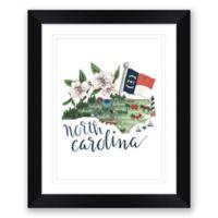 North Carolina 22.5-Inch x 27.5-Inch Framed Wall Art in Black