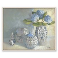 Blue & White Vases 27.75-Inch 33.7-Inch Framed Canvas Wall Art
