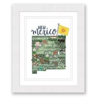 New Mexico Paper 22.5-Inch x 27.5-Inch Framed Wall Art in White