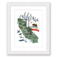 California Paper 22.5-Inch x 27.5-Inch Framed Wall Art in Black