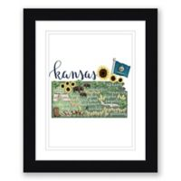 Kansas Paper 22.5-Inch x 27.5-Inch Framed Wall Art in Black