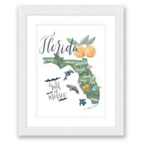 Florida Paper 22.5-Inch x 27.5-Inch Framed Wall Art in Black
