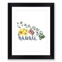 Hawaii 22.5-Inch x 27.5-Inch Framed Print Wall Art in Black