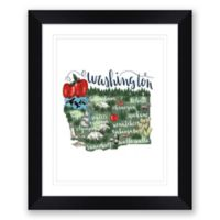 Washington Paper 22.5-Inch x 27.5-Inch Framed Wall Art in Black